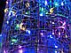 Елка металлическая с гирляндой, железная, лофт, loft, питание от USB, 100 LED, 32 см., настольная., фото 3