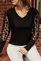 Женская блуза S,M, L, XL Опт. Турция. Черная