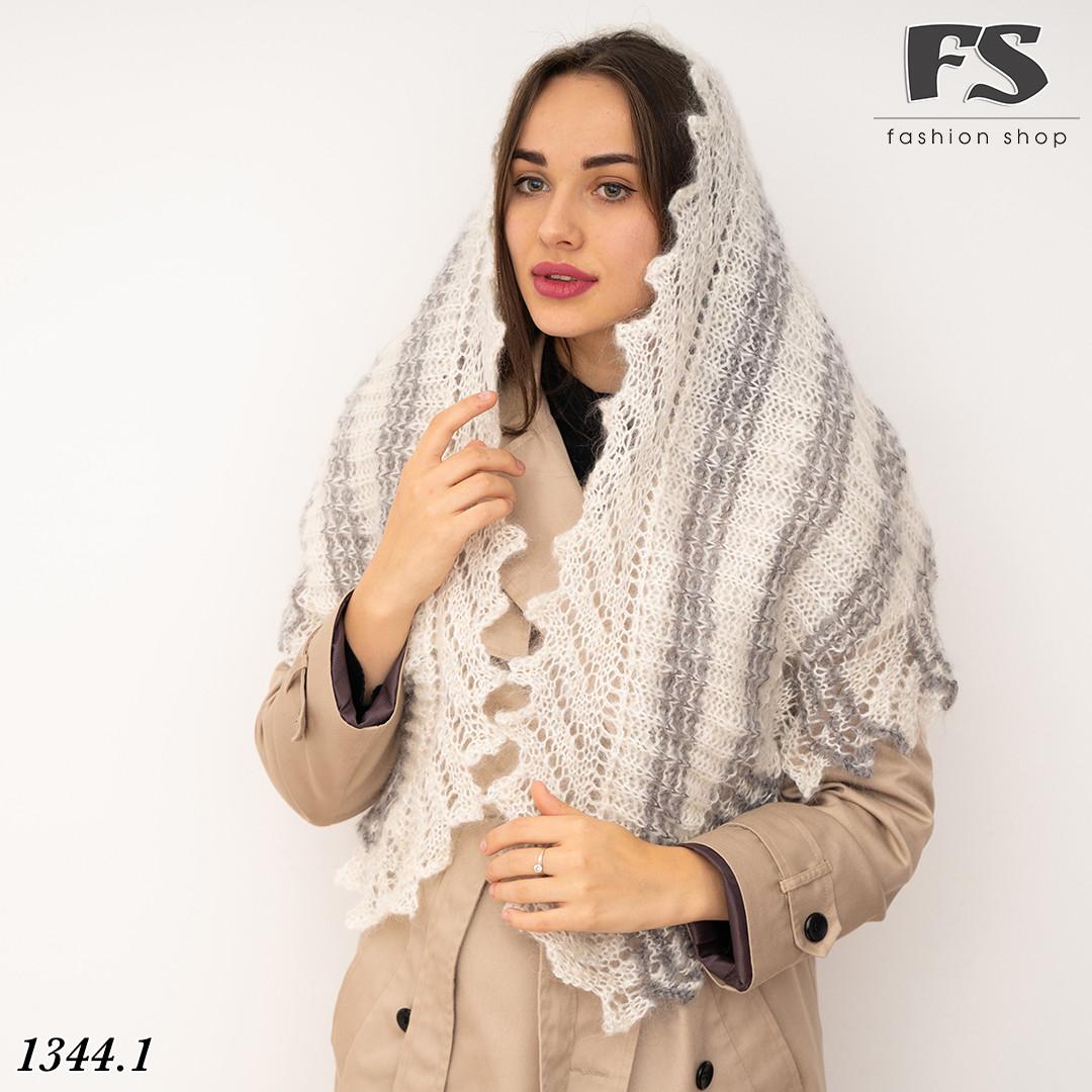 Оренбургский  пуховый платок-косынка Любава 150см х 100см