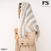 Оренбургский  пуховый платок-косынка Любава 150см х 100см, фото 2
