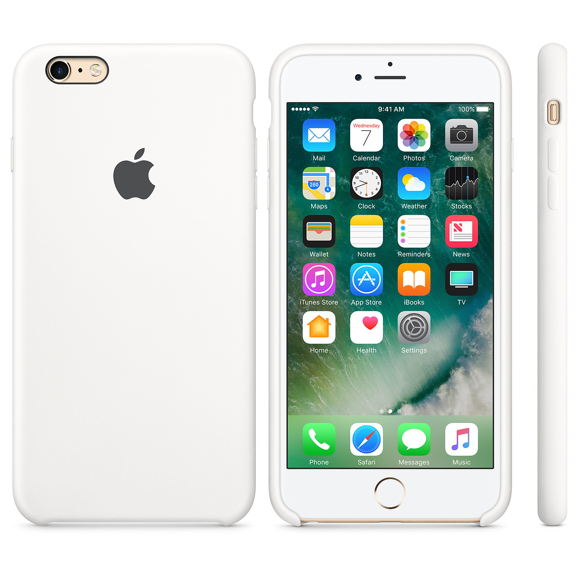 "Apple silicon case iPhone 6,6s  "" White"""