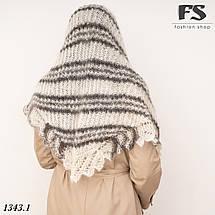 Оренбургский  пуховый платок-косынка Любава 160см х 105см, фото 3