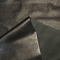 Шкіра страус 0.9 mm принт чорний 122 кв. дц ITALY, фото 1