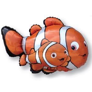 Фольгированный Шар (34''/86 см) Фигура, Рыба-клоун Немо, Flexmetal (Испания)