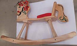 Лошадка-качалка из массива березы расписанная, LK160