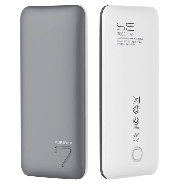 Портативное зарядное устройство (Power Bank) Puridea S5 7000mAh Li-Pol (Grey-White)