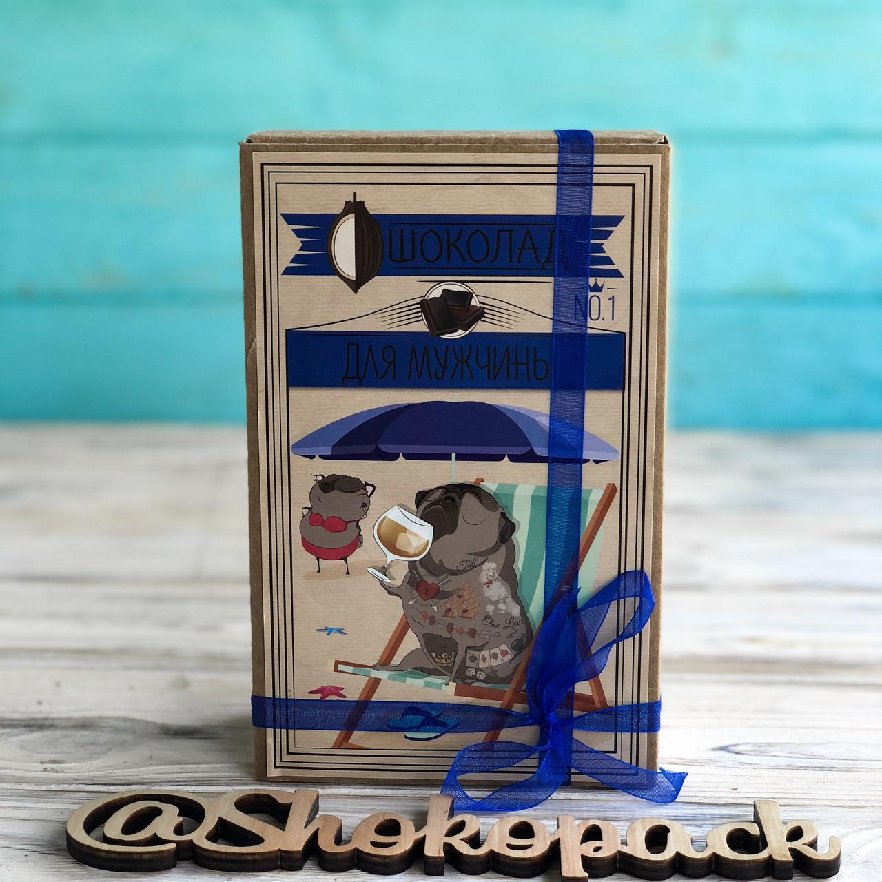 Шоколадный набор Shokopack Крафт затишного Нового року 20 х 5 г Молочный