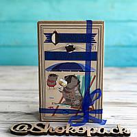 Шоколадный набор Shokopack Крафт затишного Нового року 20 х 5 г Молочный, фото 1