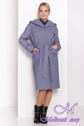 Женское зимнее пальто с капюшоном (р. S, M, L) арт. А-84-55/44726, фото 2