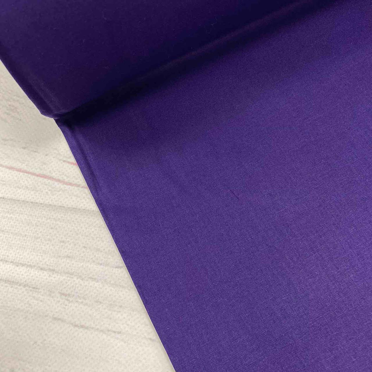 Ткань поплин De Luxe, однотонный темно-сливовый (Турция шир. 2,4 м) №32-89b