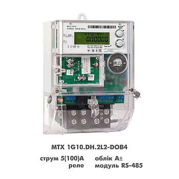 Электросчетчик MTX 1G10.DH.2L2-DOB4 однофазный многотарифный