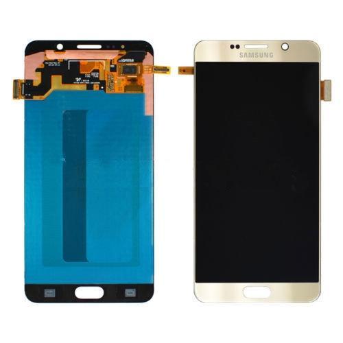 Дисплей для Samsung N920F Galaxy Note 5 с тачскрином золотистый, Gold Platinum, Оригинал Amoled