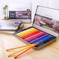 Deli 72 Colours Oily Color Pencil Set Soft Core Crayons Живопись Рисунок Эскиз Цветные карандаши Лакокрасочные материалы - 1TopShop