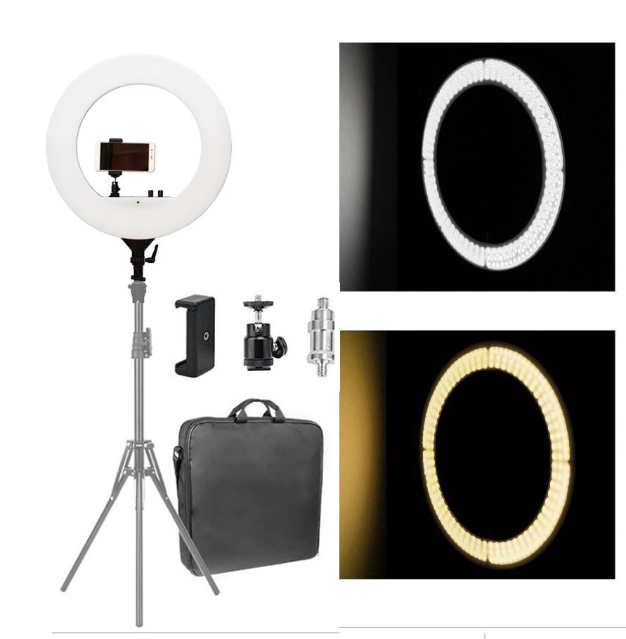 Профессиональная кольцевая лампа с штатив-треногой для косметологии PLH-480L