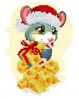 """Схема для вышивки бисером """"Мышка с сыром"""""""