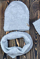Зимняя шапка для девочки Венеция, св.серый (ОГ 54-57)