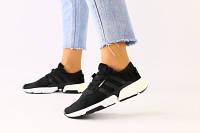 Женские кроссовки в сеточку, черный 38