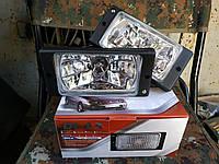 Противотуманные фары ВАЗ 2110-2112, 2113-2115 (Гладкое стекло, Белое) (Пр-во DLAA)