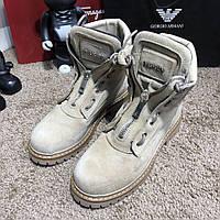 Balmain Zipper Sneakers Boots Sandy Suede
