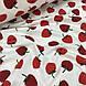 Ткань муслин Двухслойная клубника красная на белом (шир. 1,55 м), фото 4