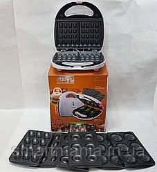 Апарат для виготовлення пончиків DSP KC-1131 печиво,вафлі, бісквіт,горішки 4в1