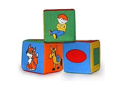 Набор из 3-х мякишей-кубиков, 3 кубика, 720057 (125)