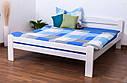 Кровать двуспальная односпальная деревянная 160х200 Массив дуба Ліжко, фото 6