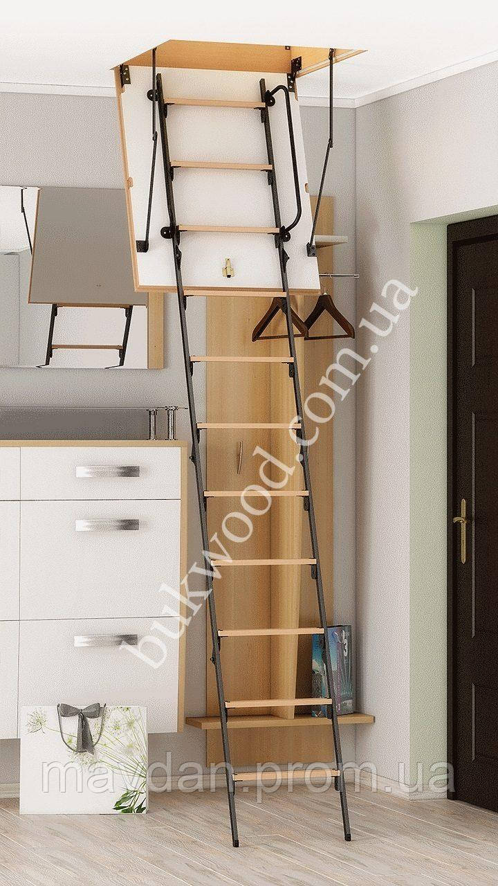Чердачная лестница Bukwood Luxe Metal ST 110х90 см