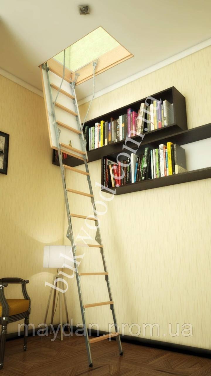 Чердачная лестница Bukwood ECO Metal Mini 80х90 см