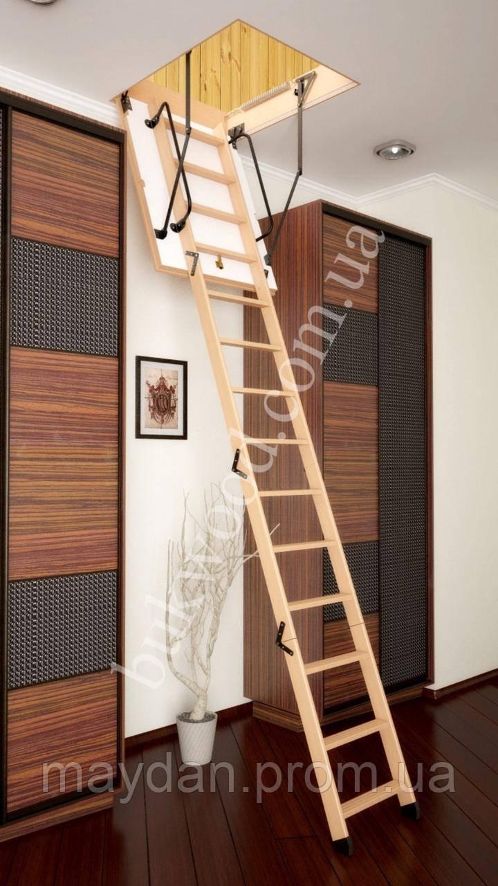 Чердачная лестница Bukwood Luxe Long 110х90 см