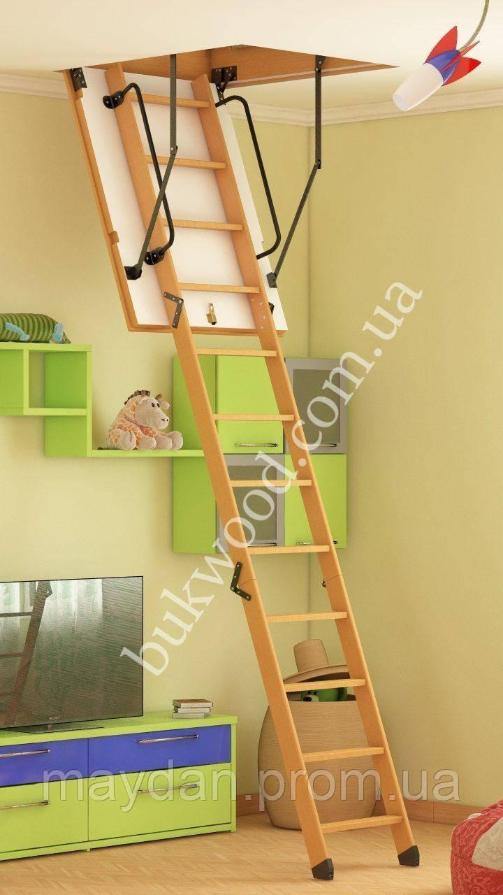 Чердачная лестница Bukwood Luxe ST 110х70 см