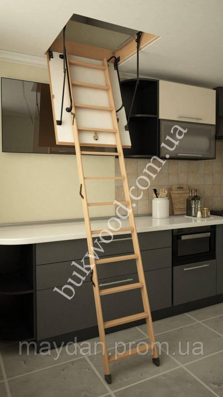 Чердачная лестница Bukwood Luxe Mini 100х80 см