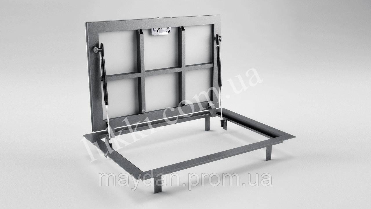 Ревизионный напольный люк на газовых амортизаторах Lukki Elite 600х700  мм