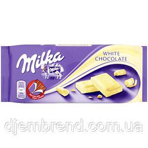 Шоколад Milka White Chocolate (100 Г) Німеччина