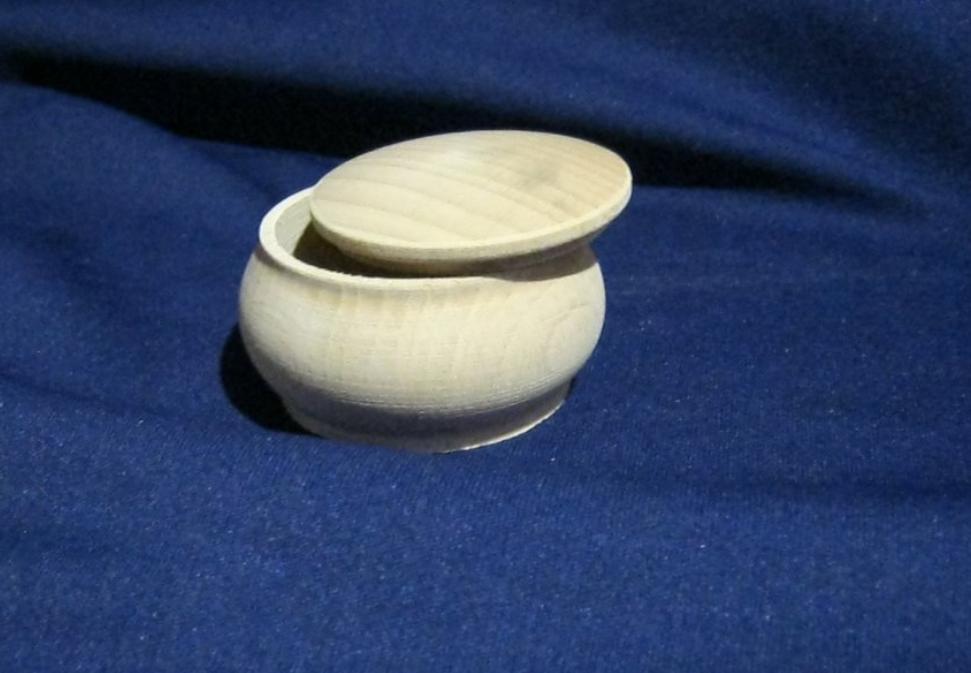 Шкатулочка бочонок круглой формы с крышкой Бук 65 мм