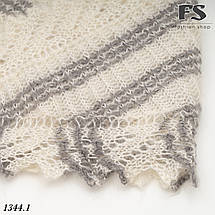 Оренбургский  пуховый платок-косынка Любава 150см х 100см, фото 3