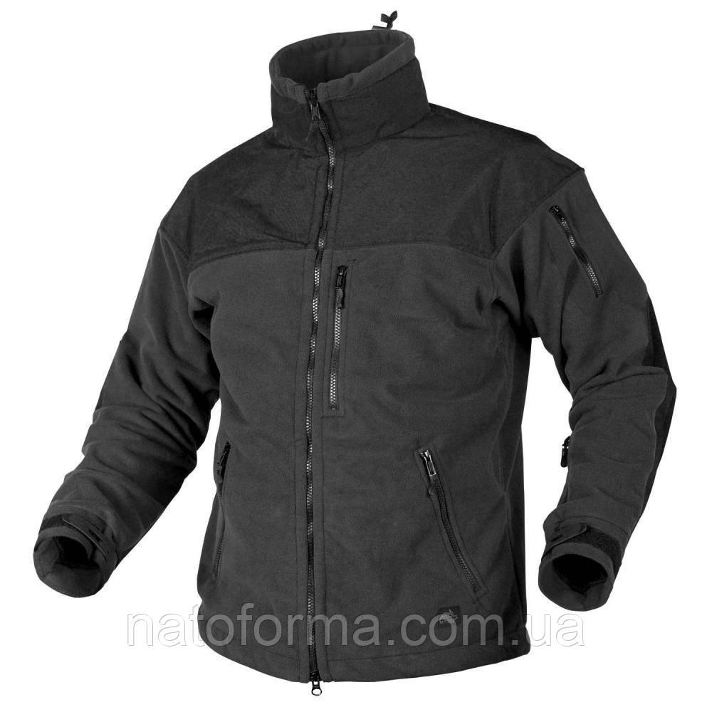 Тактическая флисовая курткаHelikon-Tex® Clasic Army, black