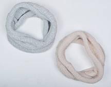 Зимний пушистый шарф хомут Зефир: синий, пудра, молоко, красный, топленое молоко, св.серый