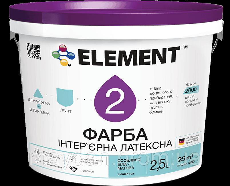 Интерьерная латексная краска ELEMENT 2