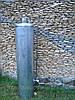 Титан емкостью 90 литров, бак дровяной колонки из нержавейки купить