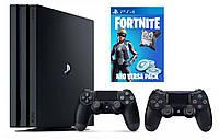 Игровая приставка Sony PlayStation 4 Pro 1 TB Black + Fortnite Neo Versa+ DualShock 4, фото 1