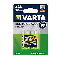 Аккумуляторы Varta AAA 1000mAh (4шт.)