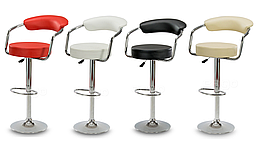 Барный стул Hoker VIGO с регулированием высоты и подставкой для ног