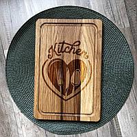 """""""Кухня - сердце дома"""" разделочная доска, доска для подачи из дуба 07"""