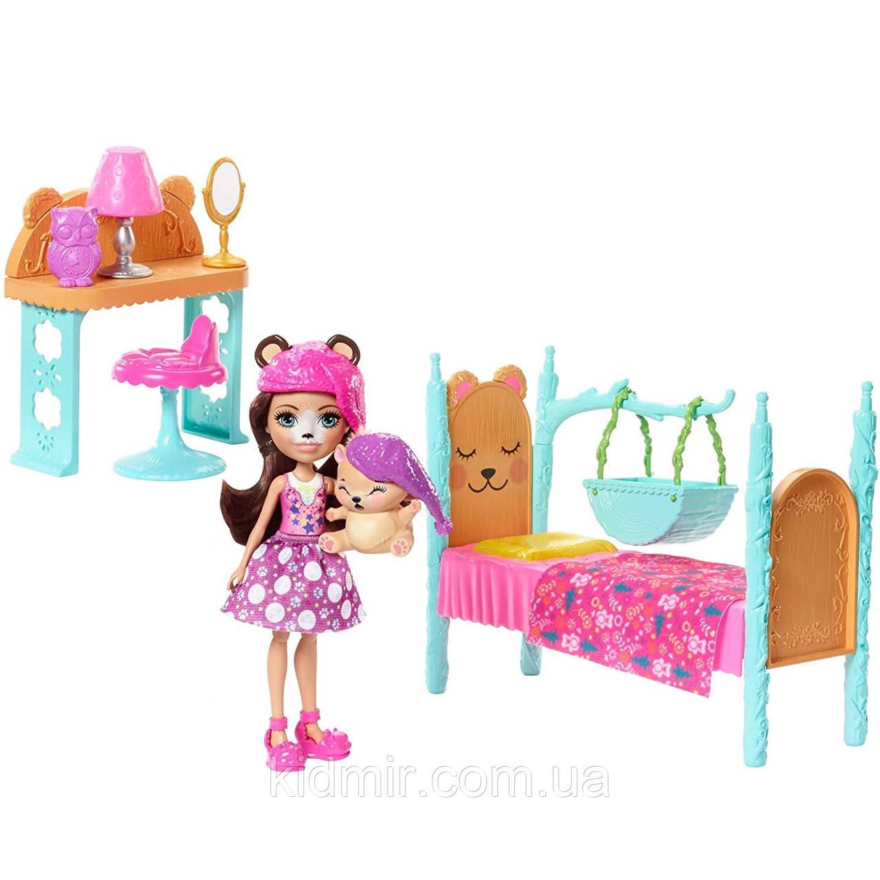 Набор Enchantimals Спальня мечты и кукла Брен Медведь FRH46