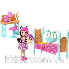 Набор Enchantimals Спальня мечтыи кукла Брен Медведь FRH46