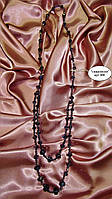 Бусы длинные сиреневые хрустальные бусины SVAROVSKI, 84 см,кристаллы сваровски.