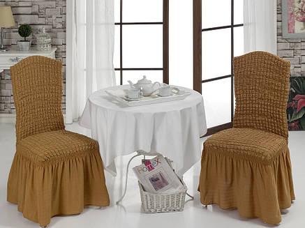 Чехол на стул с юбкой Апельсиновый Home Collection Evibu Турция 50070, фото 2