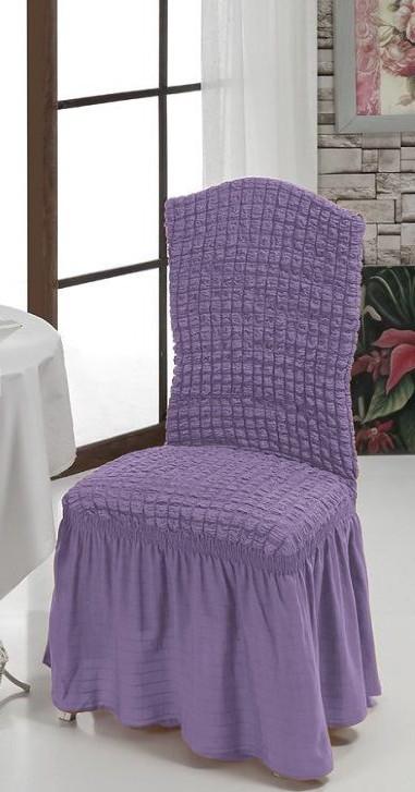 Чехол на стул с юбкой Сиреневый Home Collection Evibu Турция 50111