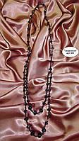 Бусы длинные сиреневые хрустальные бусины SVAROVSKI, 84 см,кристаллы сваровски. Сливовый